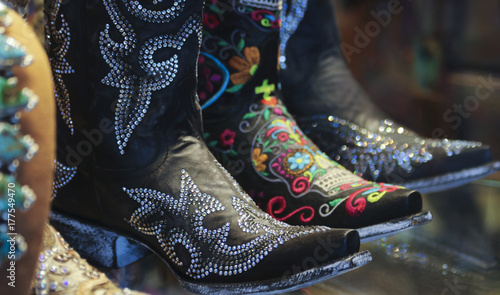 Fotografia, Obraz  An Arrangement of Ladies Spangly Cowboy Boots