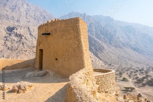 Staande foto Vestingwerk Dhayah Fort, Ras al Khaimah, United Arab Emirates
