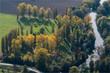 Vue aérienne de la campagne à Montigny-sur-Loing dans le Val de Marne en France