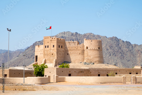 Poster de jardin Fortification Fujairah Fort, United Arab Emirates