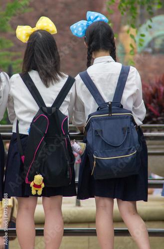 Poster Amusementspark 遊園地 女子中学生