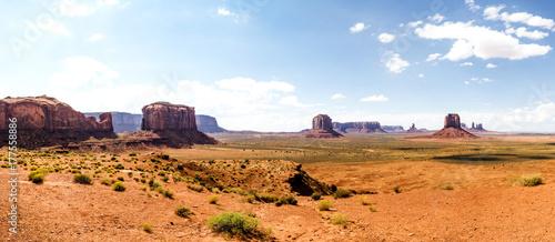 Poster Oranje eclat Panorama: The Artist Point - Monument Valley scenic panorama - Arizona, AZ, USA