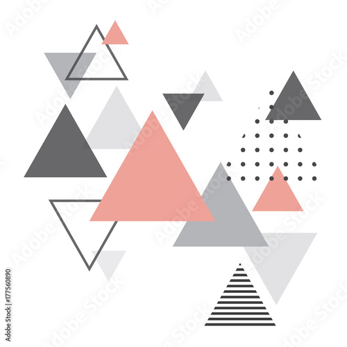 Abstract scandinavian geometric background Wallpaper Mural