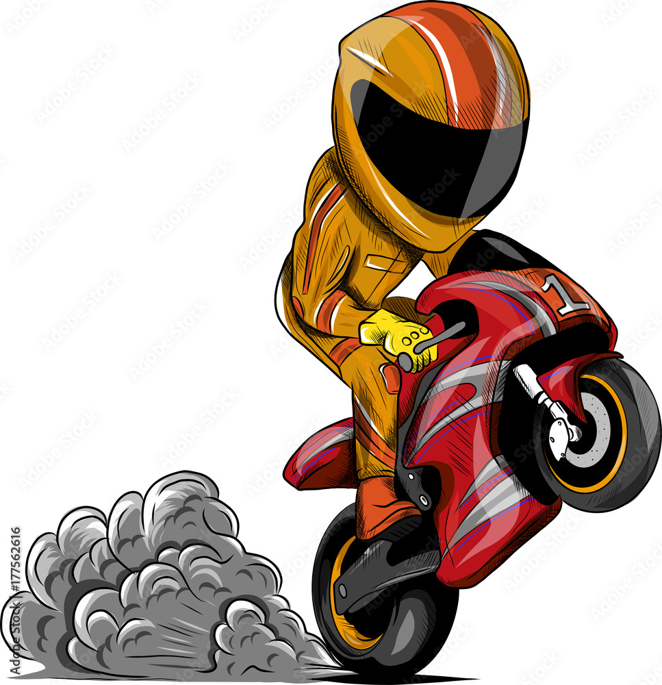 photo art print caricatura moto europosters
