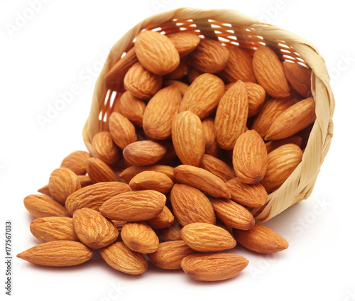 Organic almonds Canvas Print