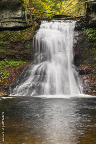 obraz dibond Waterfall on Sullivan Run - Pennsylvania