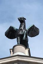 Bronze Sculpture Of Pegasus On...