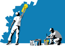 Vector Illustration Of Workers...