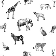 Seamless Pattern Of Hand Drawn...