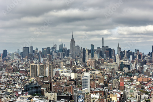 Plakat Panoramę Nowego Jorku Downtown