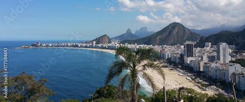 Panoramic view of Copacabana Rio de Janeiro Brazil