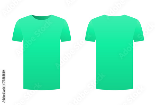 a7281060c Teal t-shirt template shirt isolated on white background front and back  design short sleeve