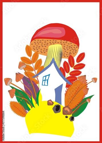 Fotografie, Obraz  house gnome, miniature, drawing