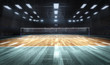 canvas print picture - Empty professional volleyball court in lights