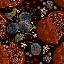 Embroidery Vintage Pomegranate...