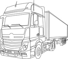 MB Actros Vectorized