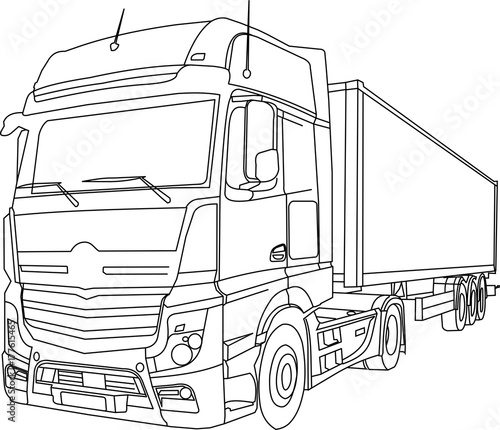 Photo  MB Actros vectorized