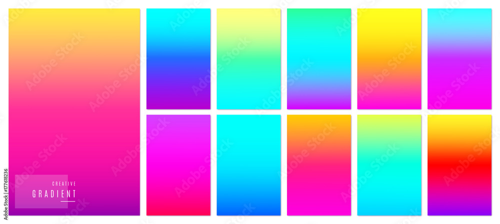 Fototapety, obrazy: Color gradient background. Creative soft colorful texture design for mobile app