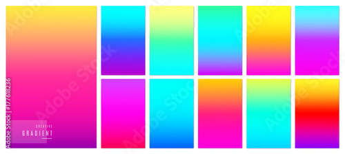 Fototapeta Color gradient background. Creative soft colorful texture design for mobile app obraz