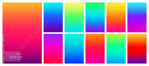 Gradient background. Creative soft color design for mobile app. Slika na platnu