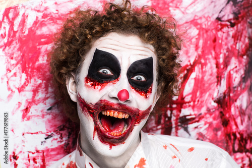 Fototapety, obrazy: Clown make up