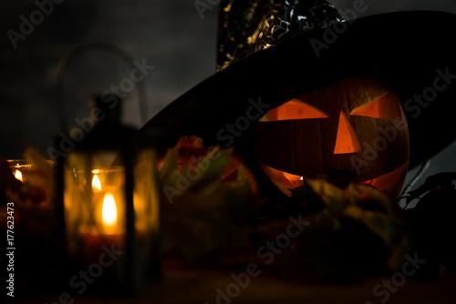 Plakat halloween koncepcja tło