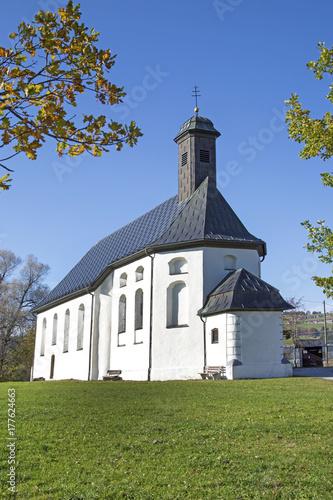 Fotografie, Obraz  Wertach - St. Sebastianskapelle - kleine Wies - Kirche - Kapelle