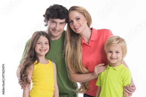 Plakat Rodzina z dziećmi