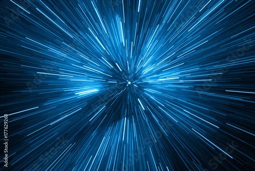 Fototapeta niebieskie światło