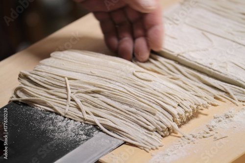 Photo 蕎麦打ち - Making Soba Noodles