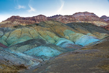 Spectacular Artists's Palette In Death Valley National Park, California, Early Morning