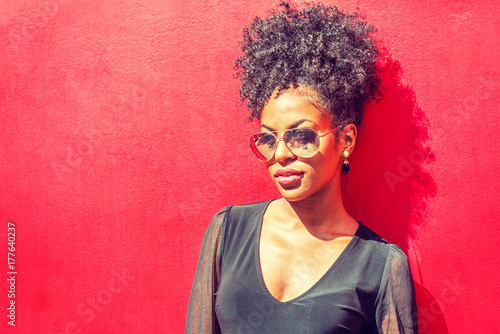 Photo  Portrait of Young African American Woman in New York