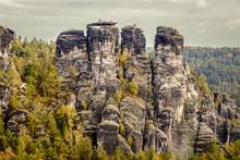 Neurathen Rock Castle Is Located Near The Famous Bastei Rocks Near Rathen In Saxon Switzerland In The German Free State Of Saxony.