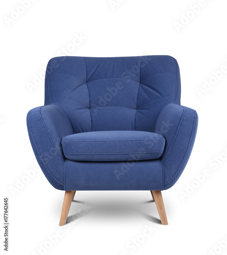 Modern armchair on white background Canvas Print