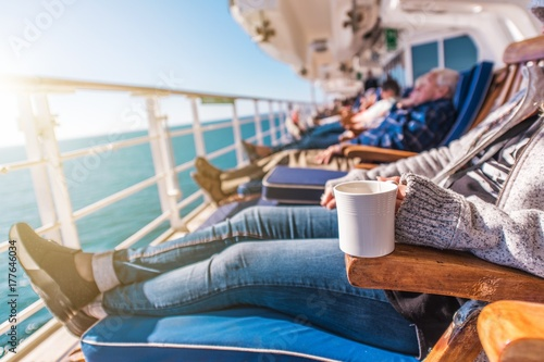 Deckchairs Cruise Ship Relax