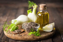 Fennel Bulb, Essential Oil And Seeds,