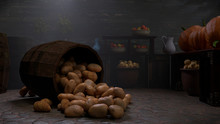 Digital Illustration Of A Root Cellar Withdramatic Mood And Lighting