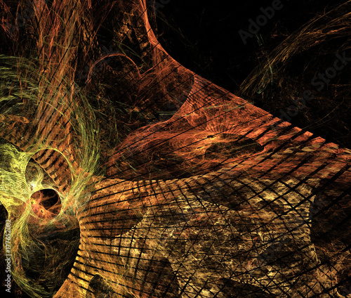 Fotobehang Rijstvelden abstract fractal background