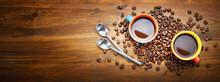 Espresso, Two Colorful Cups