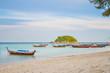 Longtail boat parking at Lipe island, Satun Province, Thailand