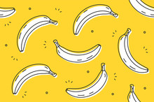 Bananas Seamless Pattern. Vect...