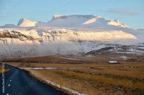 Foto op Aluminium Arctica アイスランド スナイフェルスネス半島 国立公園 氷河 冬 iceland island winter snaefellsnes peninsula national park arnarstapi jokull glacier