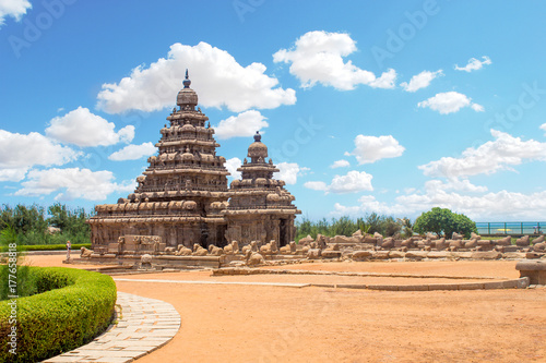 Valokuva  Shore temple at Mahabalipuram, Tamil Nadu, India