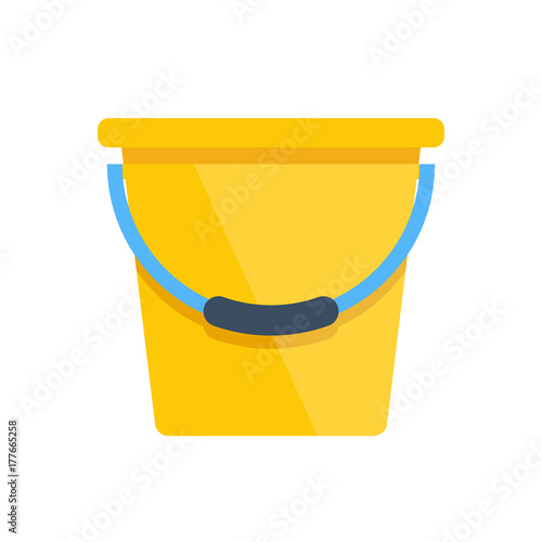 Vector yellow bucket Wall mural