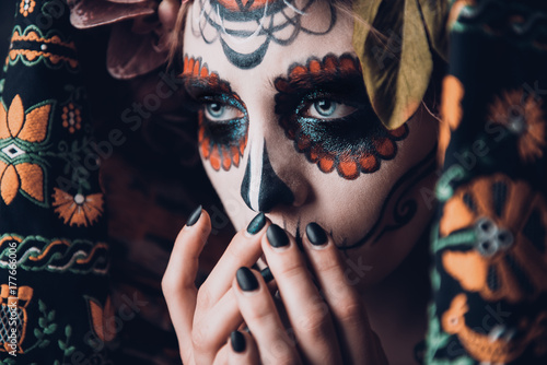 Spoed Fotobehang Halloween halloween calavera catrina
