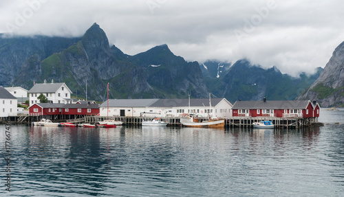 City on the water Traditional fishing village in the Lofoten archipelago, Nordland, Norway
