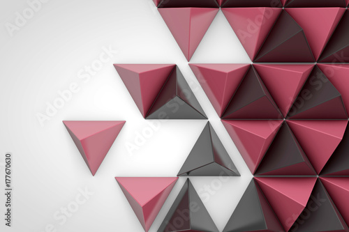 Abstract geometric background made from triangular pyramid shapes
