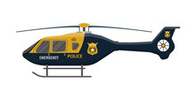 Police Helicopter Icon. Aircra...