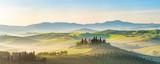 Fototapeta Fototapety z naturą - Beautiful foggy landscape in Tuscany, Italy