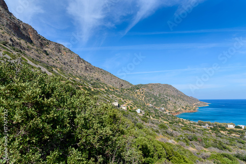 Printed kitchen splashbacks South Africa Mountains and the sea. Crete, Greece.